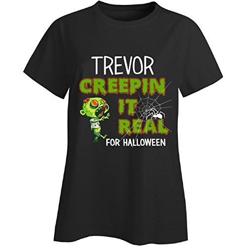 Costume Trevor Halloween (Trevor Creepin It Real Funny Halloween Costume Gift - Ladies)