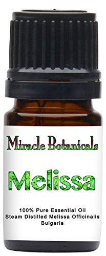 Miracle Botanicals Melissa (Lemonbalm) Essential Oil - 100% Pure Medicinal Grade Melissa Officinalis 5ml