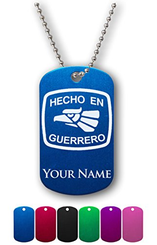 Military Style ID Tag - Hecho en Guerrero - Personalized Engraving Included