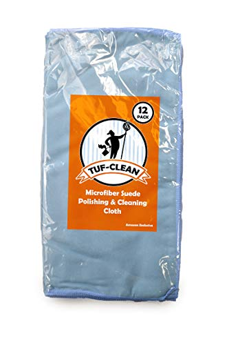 Microfiber Clean Suede - Tuf-Clean A73050 Suede Cleaning and Polishing Microfiber Cloth, 16