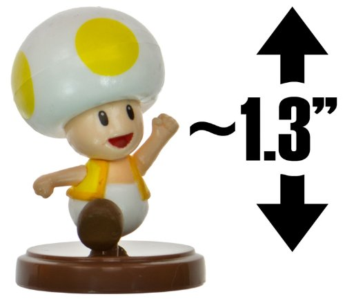 "Toad [Yellow] ~1.3"" Mini Figure [New Super Mario Bros. Wii Choco Egg Series - NO CANDY] (Japanese Import)"