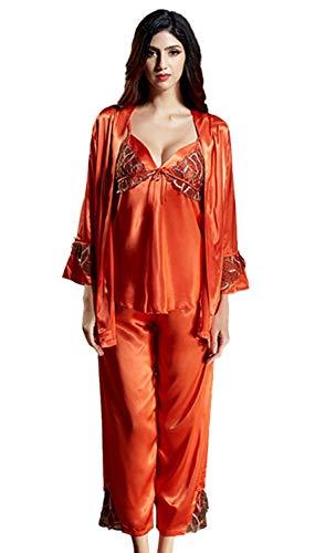 Dormir Ropa Naranja Las De Pijamas Otoño Cómodo Mujeres Manga Y Larga Suave Primavera Camisón zvwgOq5O