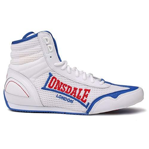 uomo Lonsdale Stivali Bianco Blu Bianco wAqn5zFq