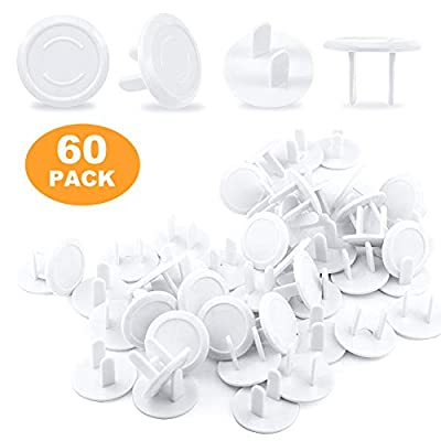 60 Pack Baby Proof Outlet Covers Plug Electrical Protector White