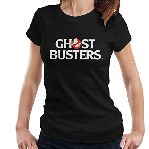 Ghostbusters White Text Logo Women's T-Shirt, Many Colors, S to XXL