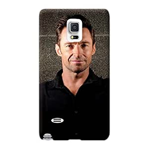 Shockproof Hard Phone Cases For Samsung Galaxy Note 4 (bGd5556uLOd) Customized Fashion Celebrities Hugh Jackman Pattern