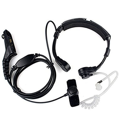 FANVERIM Throat Mic Microphone Covert Acoustic Tube Earpiece Headset with Finger PTT Compatible for Motorola XPR 6000 XPR6500 XPR6550 XPR 7000 XPR 7550 XiR-P8200 XiR-P8268 Two-Way Radio