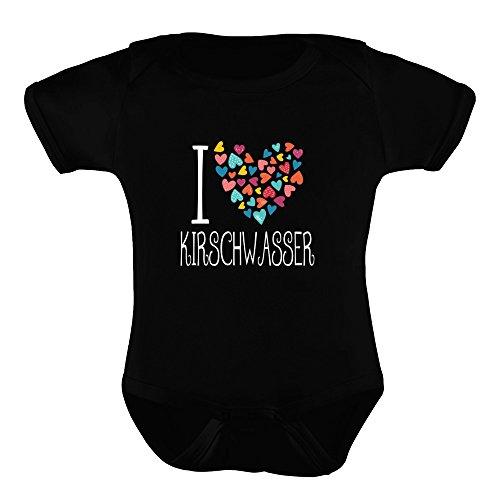 Drinks Kirschwasser (Idakoos I Love Kirschwasser Colorful Hearts - Drinks - Baby Bodysuit)