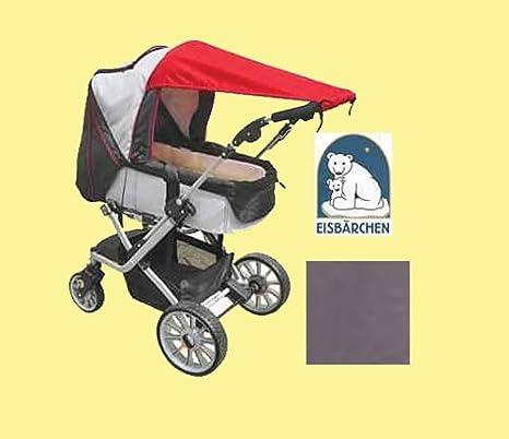 Heitmann - Toldo para el sol para carritos de bebé (protección UV 50+), color gris: Amazon.es: Bebé