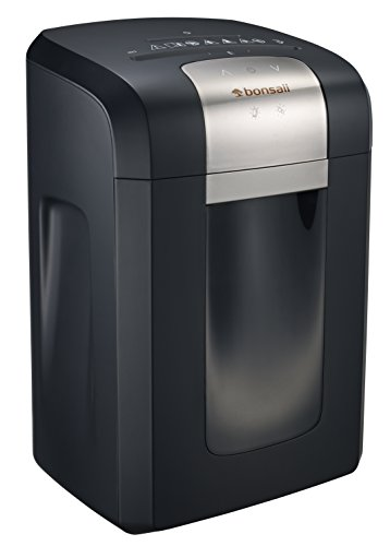 Bonsaii EverShred Pro 3S23 Heavy duty 14-Sheet Cross-Cut Paper/CD/Credit Card Shredder, 6 Gallons Wastebasket with 4 Casters and 120 Minutes Running Time, Black by Bonsaii