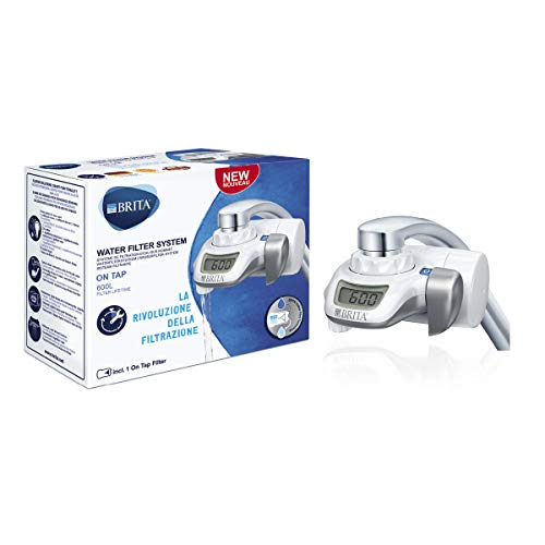 BRITA - Sistema de filtracion de Agua On Tap para el Grifo - Reduce Las bacterias y los microplasticos