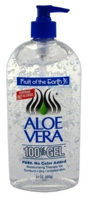 Fruit Of The Earth Aloe Vera 100% Gel, Crystal Clear - 24oz 2 Pack