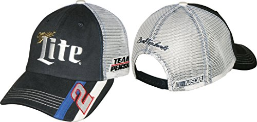 NASCAR Brad Keselowski #2 Miller Lite Racing Stripe Mesh Back Cap / Hat