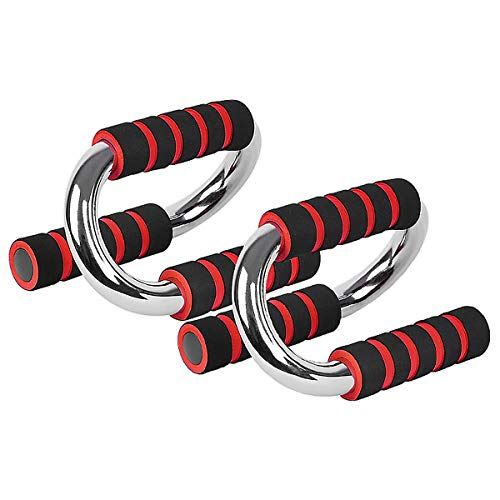 Merdia Push Up Bars Pushup Handle Stands with Comfortable Foam Grip and Non-Slip Handles Set - S Shape for Men and Women Workout Pushup Training Program