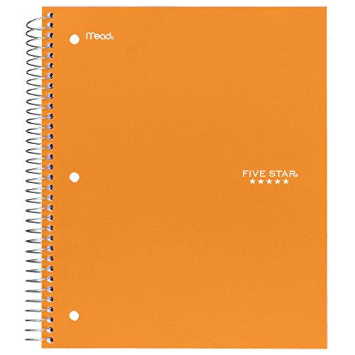 "043100060444 - Five Star Spiral Notebook, 1 Subject, College Ruled Paper, 100 Sheets, 11"" x 8-1/2"", Color Will Vary (06044) carousel main 6"