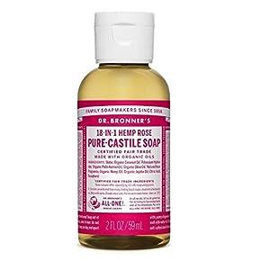 Dr Bronner Organic Rose Castile Liquid Soap 59ml