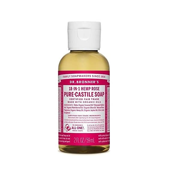 Dr Bronner Organic Rose Castile Liquid Soap 59ml