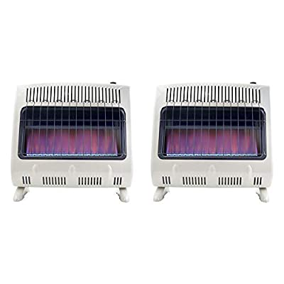 Mr Heater 30000 BTU Vent Free Blue Flame Propane Gas Wall or Floor Indoor Heater (2 Pack)