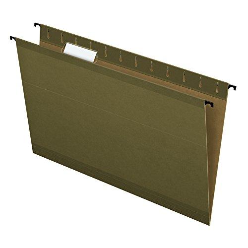 Pendaflex SureHook Reinforced Hanging File Folders, Legal Size, Standard Green, 1/5 Cut, 20/BX (6153 1/5)