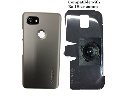 SlipGrip 22mm Ball Holder Designed For Google Pixel 2 XL Phone Spigen Thin Fit Case