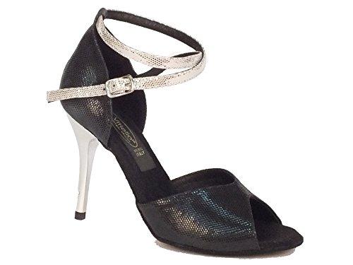 Dance Shoes Nero Women's Vitiello Nero Satinato Nero Black Sandalo Satinato Dance Shoes 5wUx7ZY