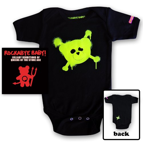Rockabye Baby! Lullaby Renditions of Queens of the Stone Age + Rockabye Baby 100% Organic Cotton Onesie (Green)