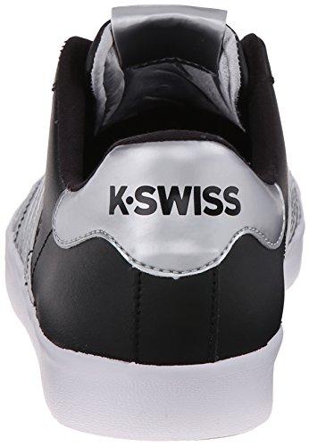 K-Swiss - Belmont So, Scarpe da Ginnastica Basse Donna, Black - schwarz/silber (black/crystal), 39,5