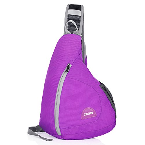 OLSUS H5 15L Outdoor Portable Travel Hiking Nylon Backpack Waist Bag Foldable Water Resistant Shoulder Bag - Purple