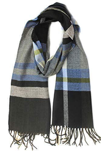 Love Lakeside Men's Cashmere Feel Winter Plaid Scarf