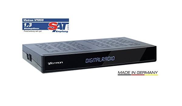 Sintonizador de radio Vistron V855 DVB-C para la televisión por cable de Vodafone, Unitymedia, Telecolumbus, M-Net, etc.: Amazon.es: Electrónica
