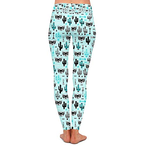 Stretch Fitness Skinny Wild Fashion Teal Style Sport Festa Allenamento Raccoon Womens Bandit Leggings West Pantaloni Yoga PxFz8cqB