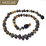 Hazelaid (TM) 14'' Pop-Clasp Baltic Amber Asteroid Necklace