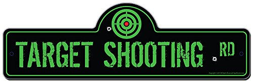 Target Shooting Street Sign | Indoor/Outdoor | Funny Home Decor for Garages, Living Rooms, Bedroom, Offices | SignMission personalized - Target Street State