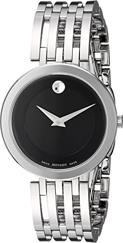 Museum Dial Stainless Bracelet (Movado Women's Swiss Quartz Stainless Steel Casual Watch, Color:Silver-Toned (Model: 0607051))