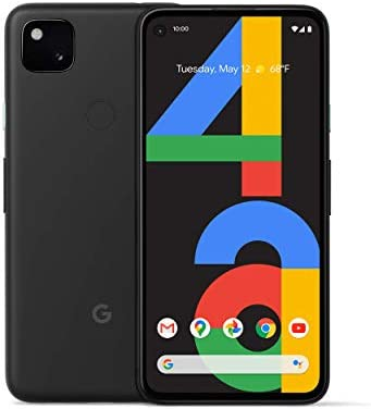 Google Pixel 4a Smartphone, 128GB Storage & Unlocked Cellular - Just Black (Renewed)