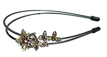 Amazon.com   Crystal Flower Metal Wire Headband YY86801-3brown ... 125295072d7