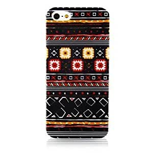 National Style Colorful Line Pattern Silicone Soft Case for iphone 4s