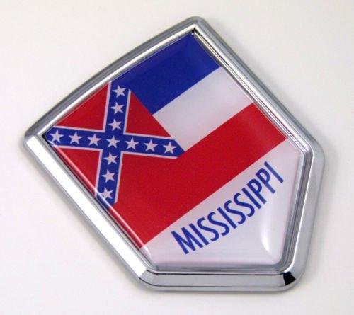 Mississippi MS USA State Flag Car Chrome Emblem Decal Sticker bike laptop boat 3dd Sticker badge
