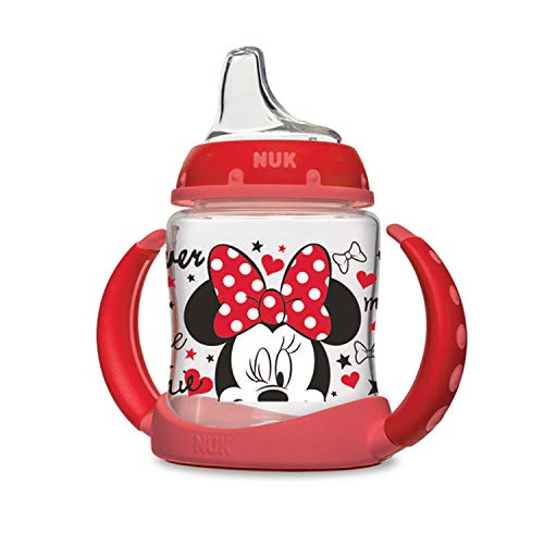 - NUK Disney Learner Sippy Cup, Minnie Mouse, 5oz 1pk