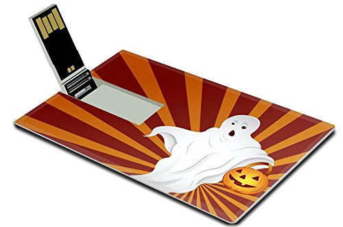 [Liili 16GB USB Flash Drive 2.0 Memory Stick Credit Card Size IMAGE ID: 16104681 Halloween Ghost] (Cute Halloween Ghosts Clipart)