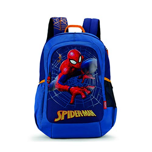 Skybags SB Marvel Champ 08 18 Ltrs Blue Casual Backpack  (SBMRC08EBLU)