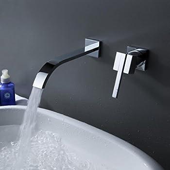 VIGO Olus Wall Mount Bathroom Faucet, Chrome - Touch On Bathroom ...