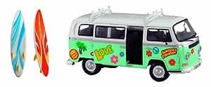 Dickie Toys Surfer Van - vehículos de juguete (Turquesa, Color blanco, Cualquier género, 1:14)