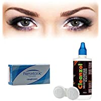 Alcon Freshlook Colors Contact Lens with Lens Case and Solution - (Misty Grey) - 2 Pieces
