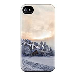High Quality Shock Absorbing Case For Iphone 4/4s-winter's Path