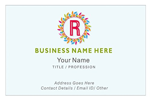 Design Your Own Personalised Business Cards Custom Employee Company Visiting Card- Front Personalized Business Cards