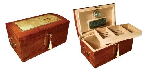 Prestige Import Group 150 Count High Gloss Lacquer Humidor w/ Arched Top by Prestige Import ()