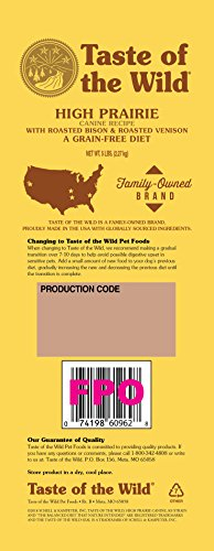 Large Product Image of Taste Of The Wild Grain Free High Protein Dry Dog Food High Prairie Adult - Venison & Bison 5Lb