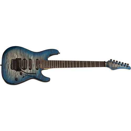 Schecter 7 String Solid-Body Electric Guitar, Sky Burst (1279)