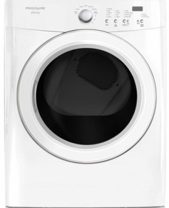 FASG7021NW Affinity Series 7.0 Cu. Ft. Capacity 27' Wide Front-Load Gas Dryer Featuring Ready Steam DrySense Technology TimeWise Technology Silent Design: